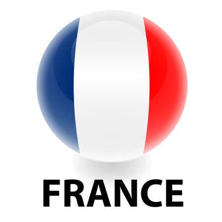 bandera francia: Bandera de Francia de orbe  Vectores