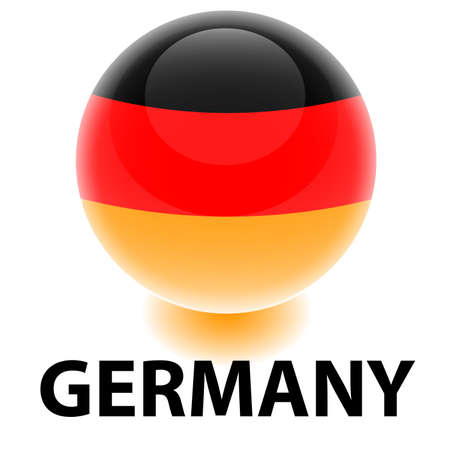 Orb Germany Flag Vector