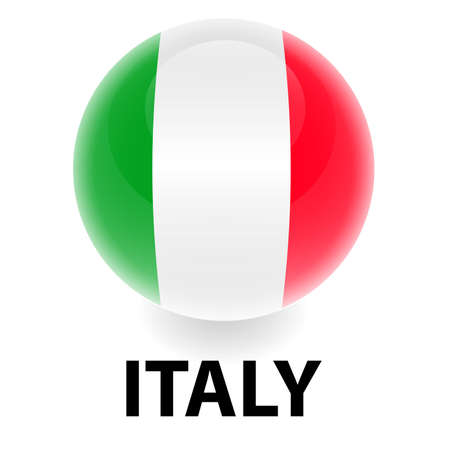 Orb Italy Flag Vector