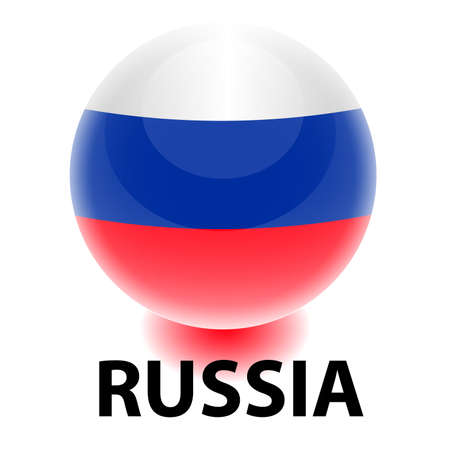 Orb Russia Flag Illustration