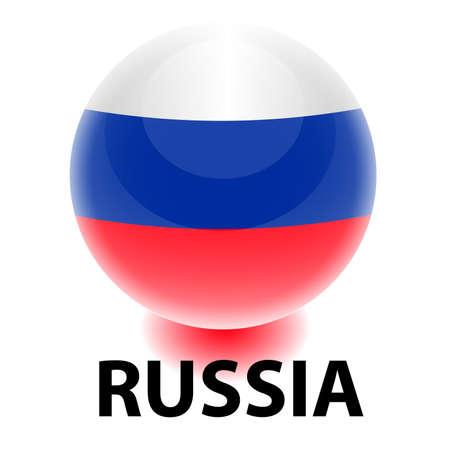 russian flag: Orb Russia Flag Illustration