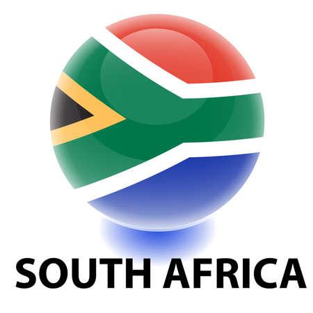 Orb South Africa Flag Illustration