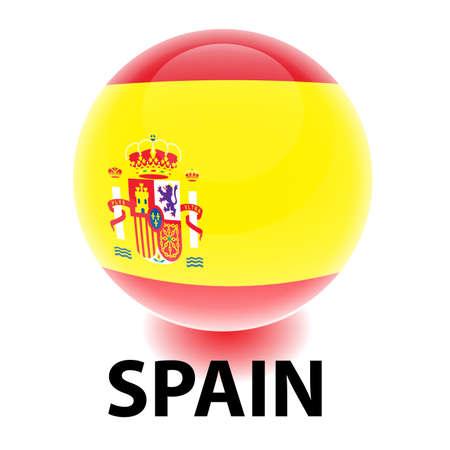 Orb Spain Flag Illustration