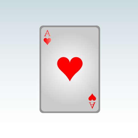 as de picas: As de corazones  Vectores