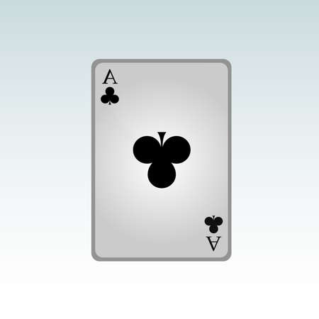 ace of clubs: Ace cross