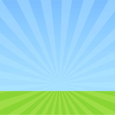 Hemel en gras Vector Illustratie