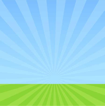 sky: Himmel und Gras Illustration
