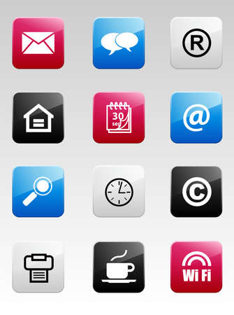Color Internet Icons Vector