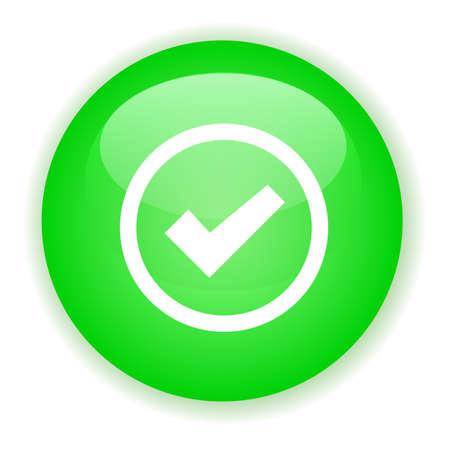 signle: Green signle checked button
