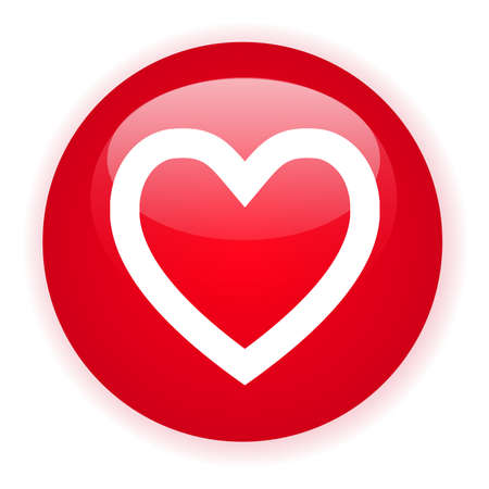 signle: Signle red heart button Illustration