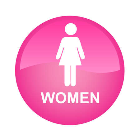 Pink single woman Vector