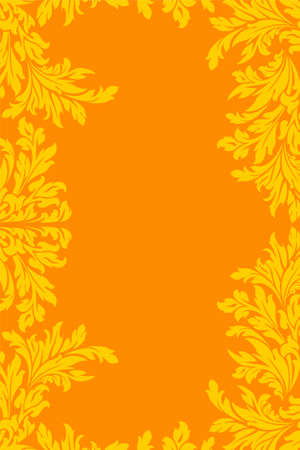 Yellow orange floral frame Stock Vector - 7909811