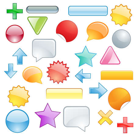 Set colored symbols and shapes Vector