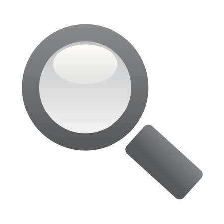 magnify glass: Single magnifer Illustration