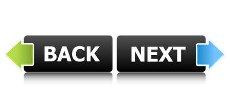 Back and Next buttons Stock Vector - 7909810