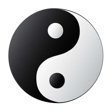 Yin Yang  Ilustración de vector