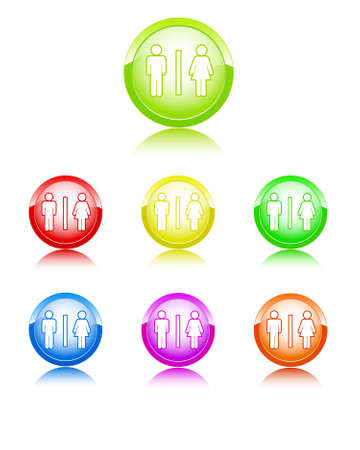 Man and woman color icons Stock Vector - 7909924
