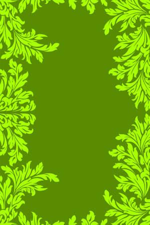 Green floral frame Stock Vector - 7914481