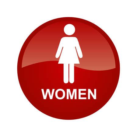 single woman: Red single woman Illustration