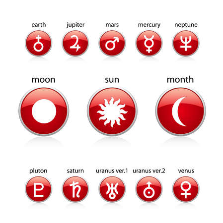 All zodiac red Vector
