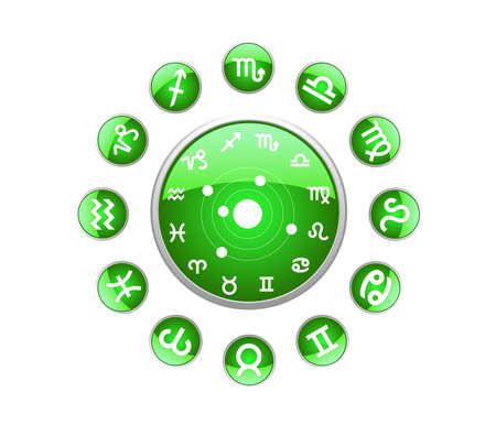 All zodiac green Vector