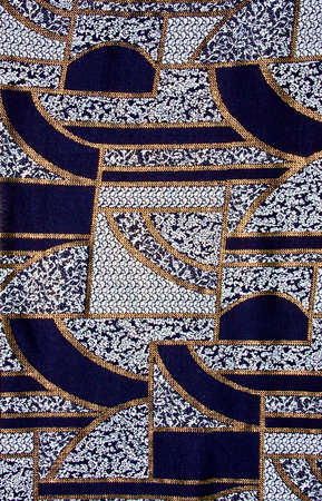 Blue tissue pattern with gold. photo