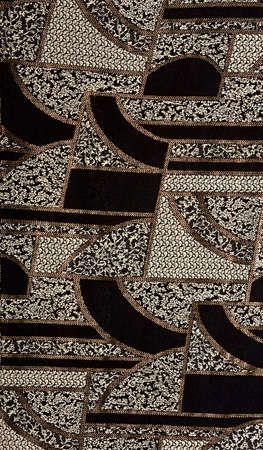 Black tissue pattern with gold. Black fabric pattern with gold photo