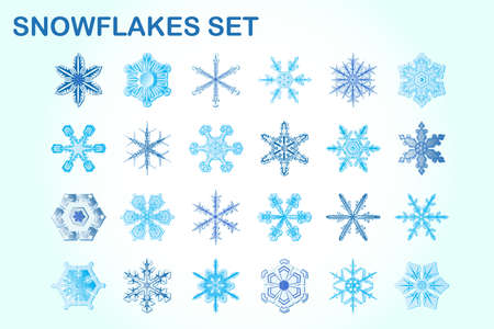 xmax: Snowflakes set for Christmas Illustration