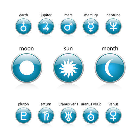 All planet blue Vector