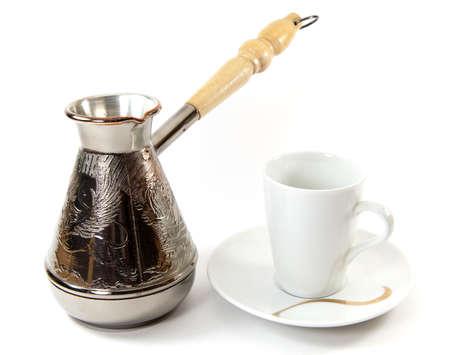 Coffee cup and coffee turk photo