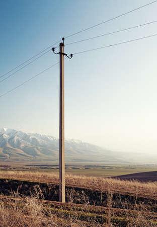 Electric pylon in a mountains Stock Photo - 9292607