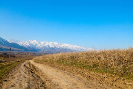 Landscape of the mountain road Stock Photo - 9954700