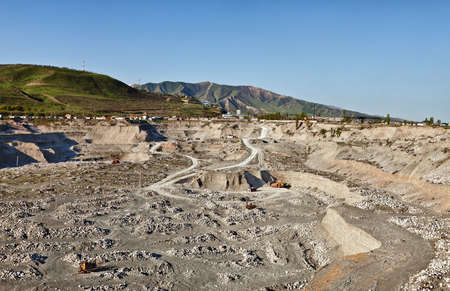 sand quarry: Sand quarry and the mountain