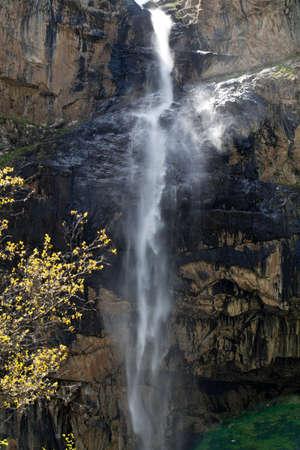 kyrgyzstan: Waterfall Gorge Belagorka. Kyrgyzstan.