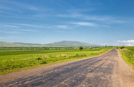 Landscape of mountains, roads Stock Photo - 12633149