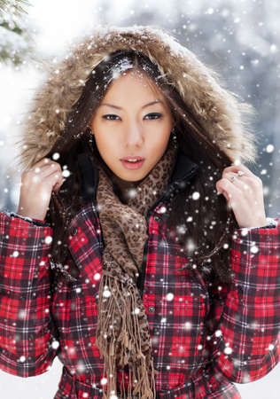 Snow Beauty. Portrait of a Girl photo