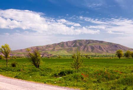kyrgyzstan: paisaje Asia. Kirguistán, Baitik Foto de archivo