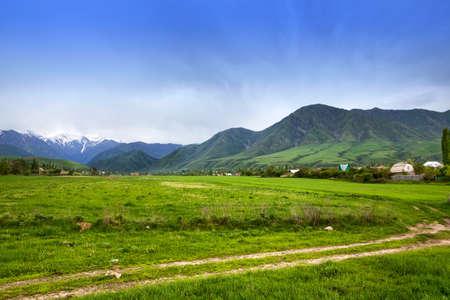 kyrgyzstan: Asia landscape. Kyrgyzstan, Baitik