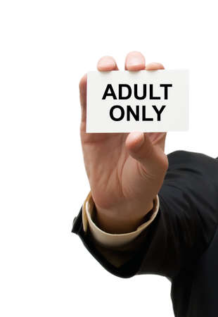 only adult: Card adult only