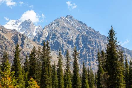 kyrgyzstan: paisaje de montaña. Kirguistán. Ala-Archa.