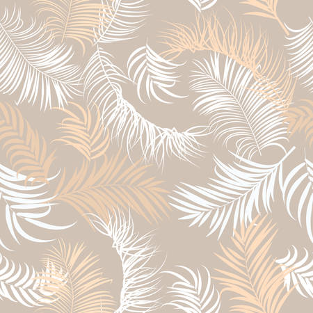 Seamless vector pattern of tropical jungle pastel palm tree leaves, background for textile, wedding,quotes, Birthday and invitation cards,greeting cards, print, blogs, bridal cards.