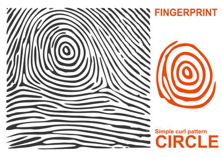 fingermark: Vector Fingerprint.