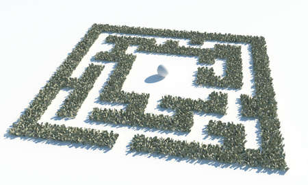 pay wall: Financial Maze Labyrinth made of usd banknotes. 3d render illustration Stock Photo