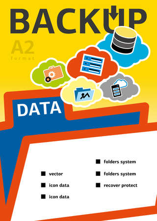 data recovery: Backup and recovery data. Design for Web, Mail, Brochures. Mobile, Technology, and Infographic Concept.