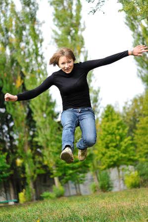 jumping girl Stock Photo - 6500217