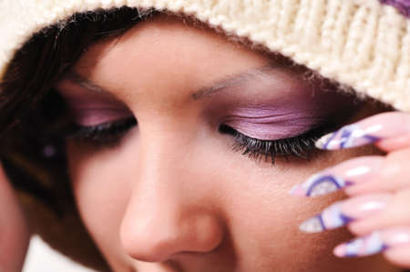 closeup portrait of attractive girl with make-up Stock Photo - 6632174