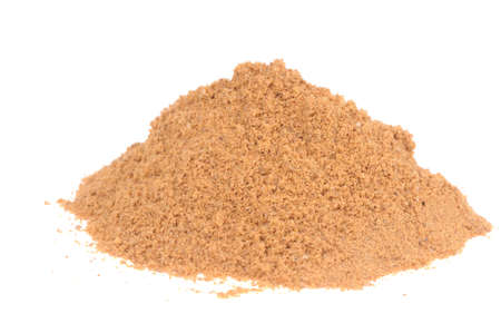 Powdered Mustard isolated on the white background