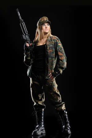 Sexy Military Girl