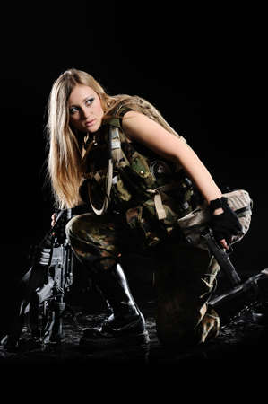 camouflage woman: Sexy Military Girl