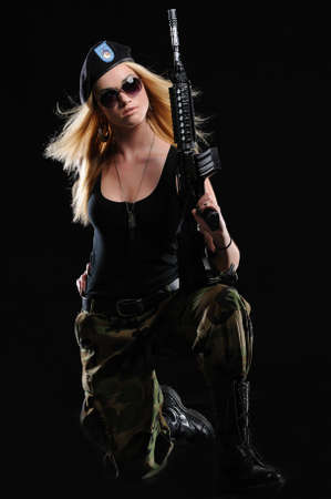Sexy Military Girl Stock Photo - 12037575